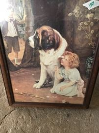 Large collection of art depicting children with pets