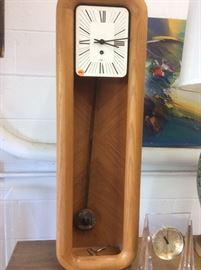 Arthur Umanoff for Howard Miller mantle clock oak