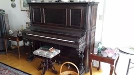 This piano was brought around the horn in the late 1800s