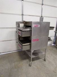 Blodgett Double Stacked Conveyor Ovens On Stand
