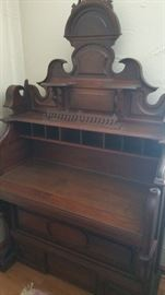 Antique organ writing desk