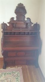 Antique organ writing desk