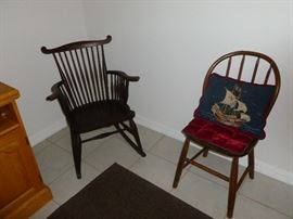 Early Rocker and Side Chair