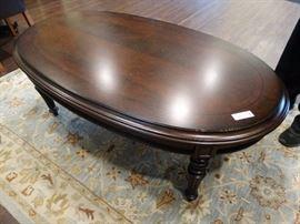 Very nice oval wood coffee table