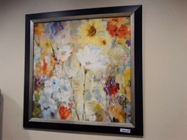 Framed wall art- signed