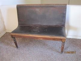 Nice bench with leather seat