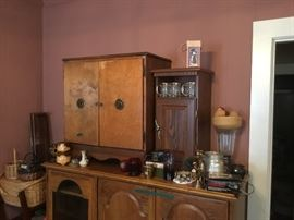 Great vintage cabinet - would be a great bar!  Collectibles