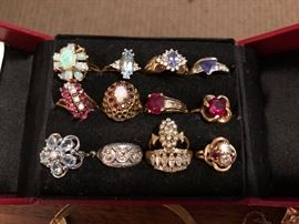 Diamonds  Ruby's  Tanzanite and More   14 & 18K Gold