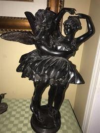 BALLET ANGELS LARGE BRONZE SCULPTURE