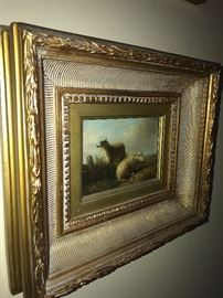 ORIGINAL OIL ON CANVAS SHEEP PAINTING