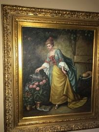 VICTORIAN STYLE OIL ON CANVAS PAINTING