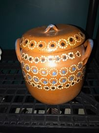 HAND-PAINTED JAR WITH COVER