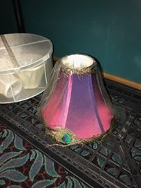 PEACOCK FEATHER LAMP SHADE