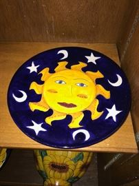 HAND-PAINTED SUN PLATE