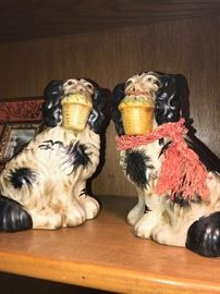 STAFFORDSHIRE STYLE CERAMIC DOGS