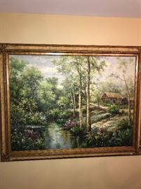 LARGE OIL ON CANVAS PAINTING