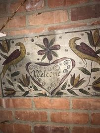 ANTIQUE SLATE HANGING WALL SIGN