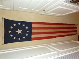WWI ERA UNITED STATES WELCOME HOME VICTORS BANNER FLAG BUNTING