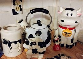 This Is Just A Sample Of All The Cow Decor. KITCHEN