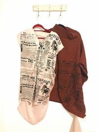 Screeenprinted dress  sweater