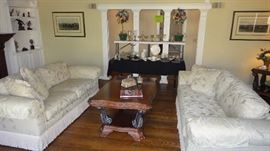 Matching Thomasville living Room sofas. Coffee table, home decor,
