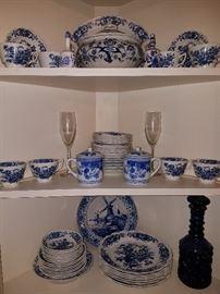 Staffordshire, England China Set. English Bouquet pattern.