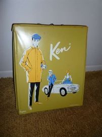 1962 KEN CASE W/1960 KEN DOLL & CLOTHING