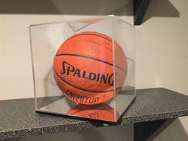 Pistons Team Signed Ball 1989-1990 season