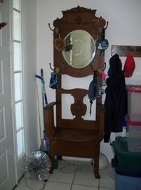 Antique/Vintage Hall tree with seat