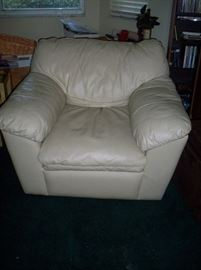 Off White Leather chair