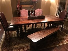 Farm House Table with Bench