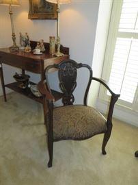 Art nouveau chair matches settee