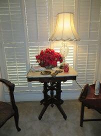 Antique marble Eastlake table.