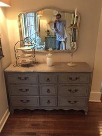 Painted Dresser / Mirror