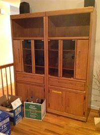 Entertainment Hutch $ 260.00 (both pieces)
