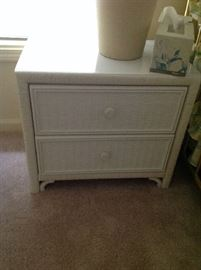 Wicker End Table $ 50.00