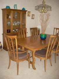 Dining Table with 6 Chairs,  China Hutch