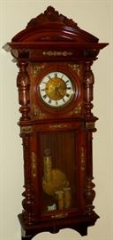 GUSTAV BECKER (?) 3 WEIGHT VIENNA REGULATOR CLOCK