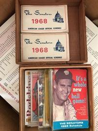 Senators Baseball Items
