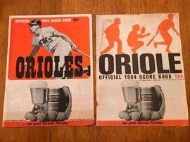1964 Orioles Programs