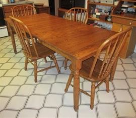 Rectangular kitchen/dining table & chairs, like a harvest table