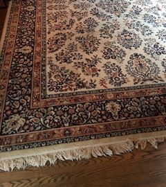 Very nice rug in navy and rust