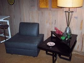MCM Chair, Table and Lamp