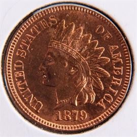 Lot 113a - Coin 1879 Indian Head Cent Unc. Stunning!