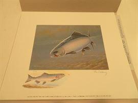 Trout Salmon Stamp Print