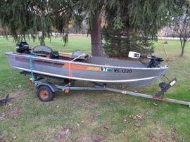 Grumman Boat, Trailer, Motor, Trolling Motor, Fish Finder