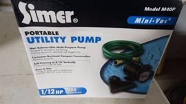 Simer portable utility pump- New in box