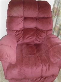 1 of 2 plush recliners excellent condition.