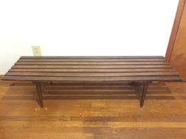 Mid-century slat bench table