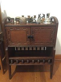 Antique magazine rack and humidor
